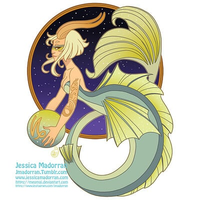 Jessica madorran patreon may 2021 zodiac mermaid capricorn artstation