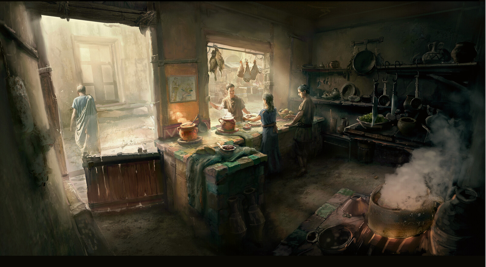 Ancient Rome Domus Kitchen