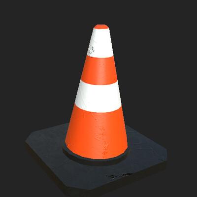 Louis hobden traffic cone