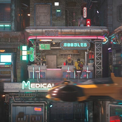 Mizuri cyberpunk noodle bar