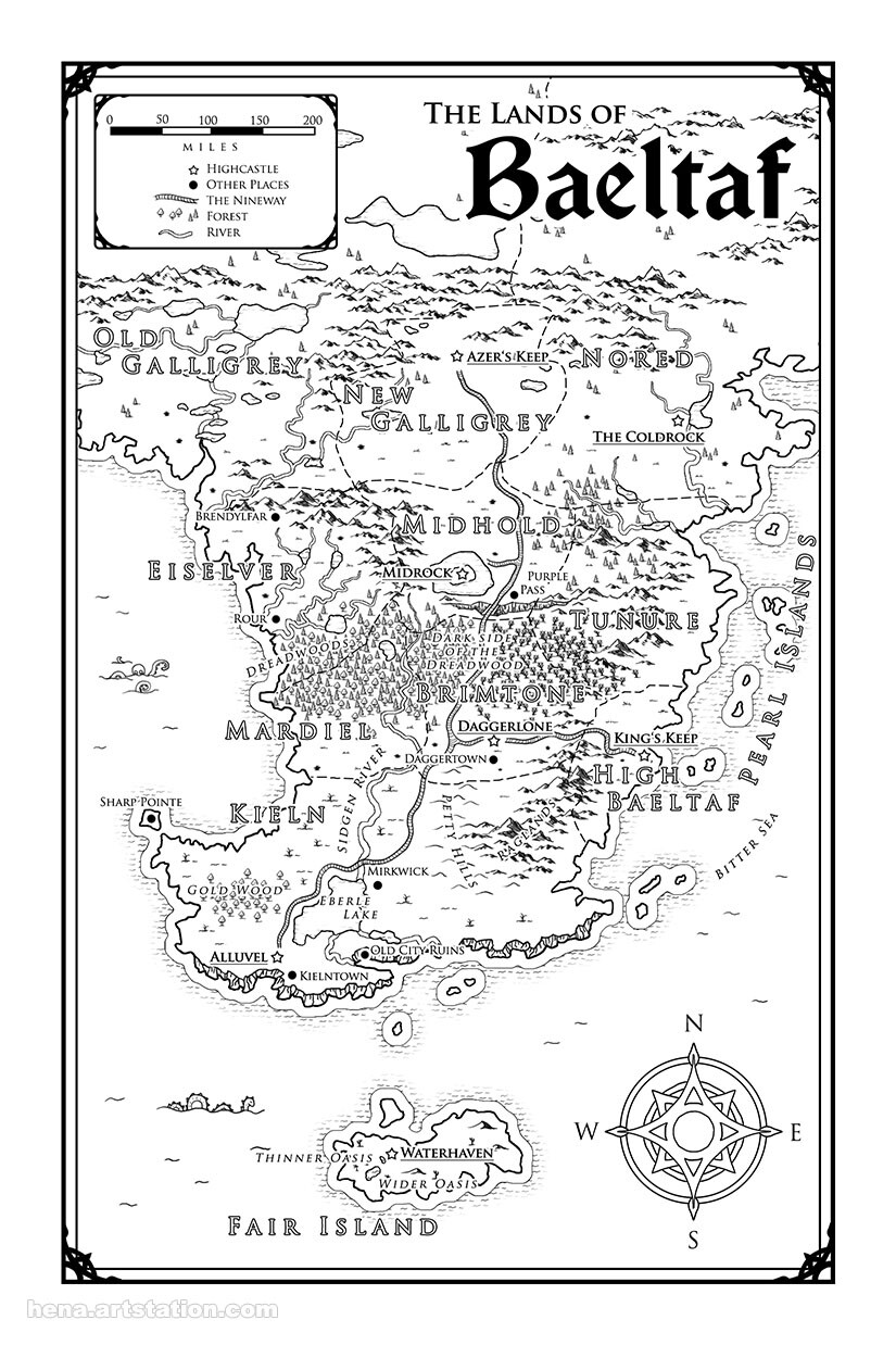 Map Art: Baeltaf