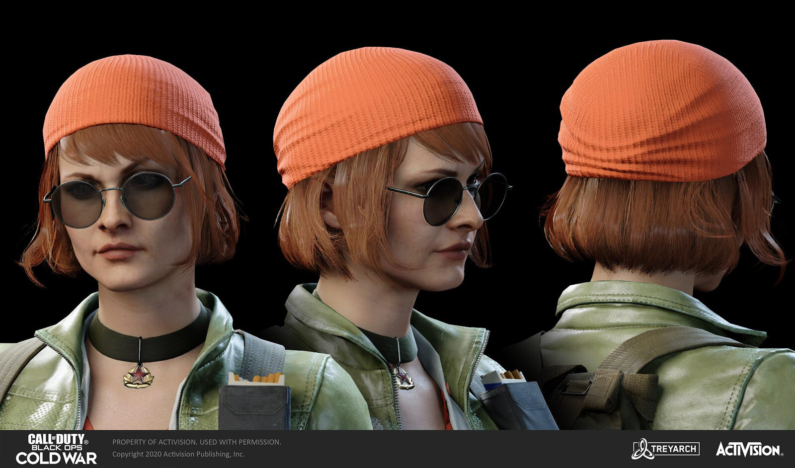 Outfit (including hat/glasses) seen here was designed/modeled by El Trofimova