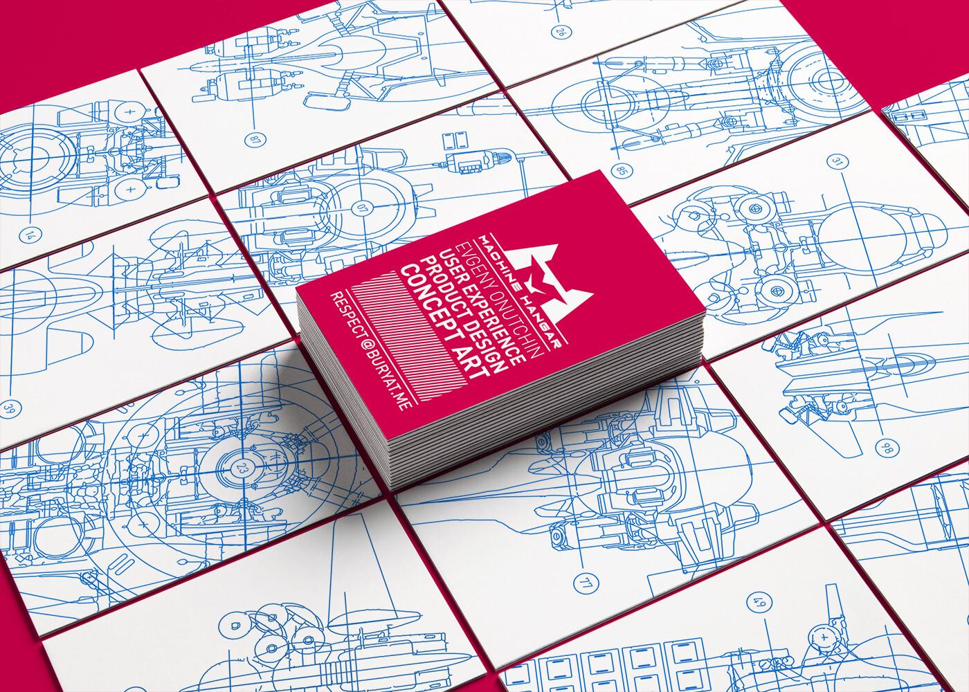 Machine Hangar - Vita card design