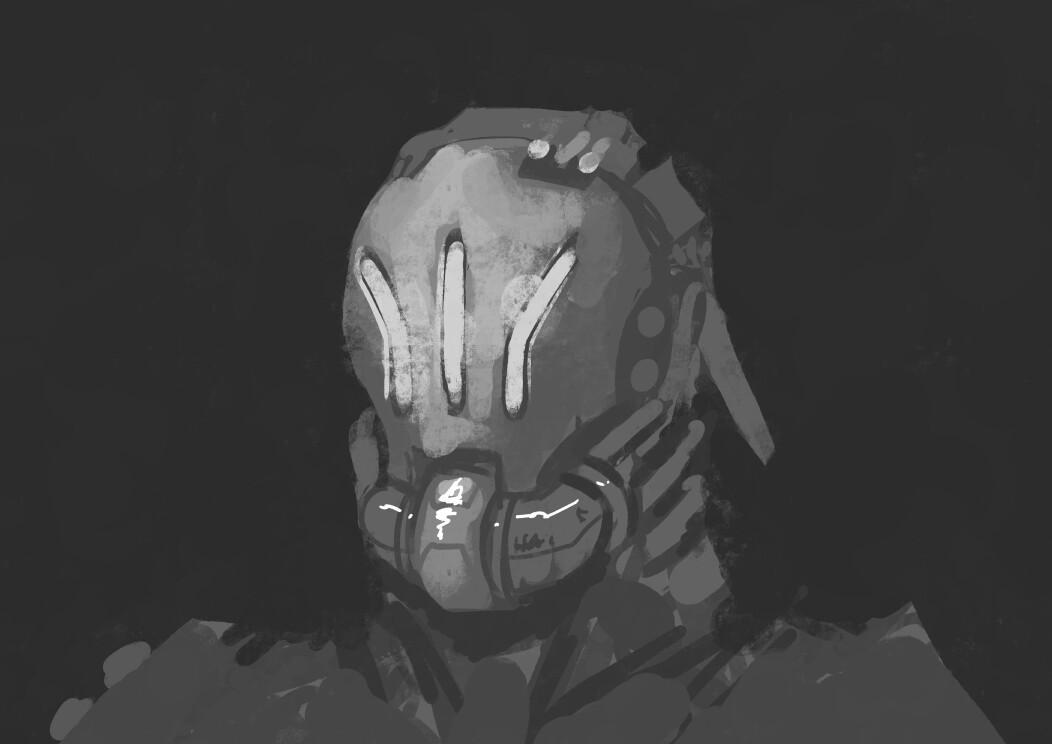 First sketch for helmet concept