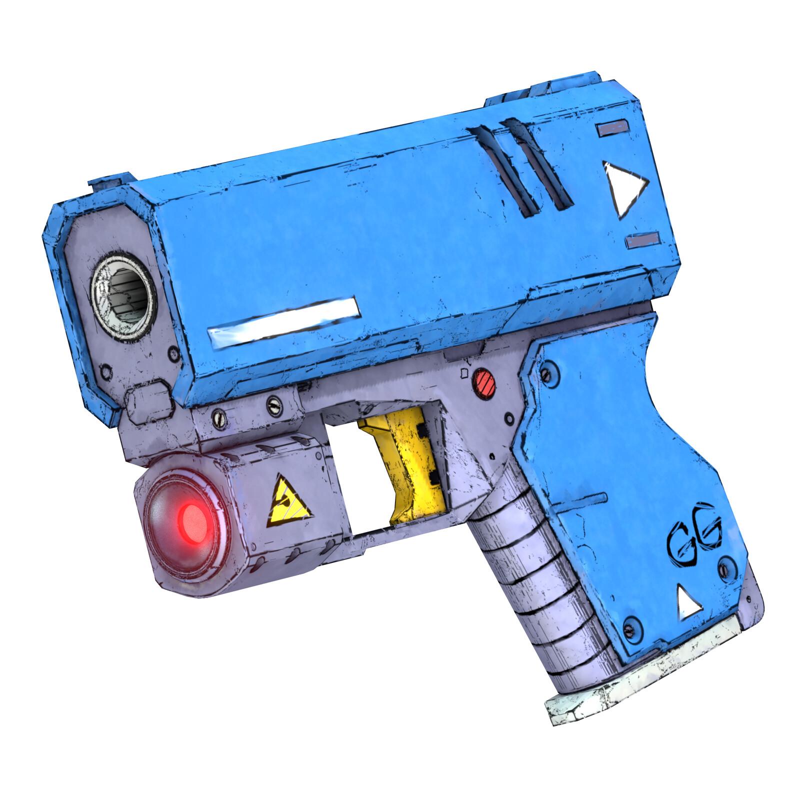 Compact Personal Defense Gun - Handpainted