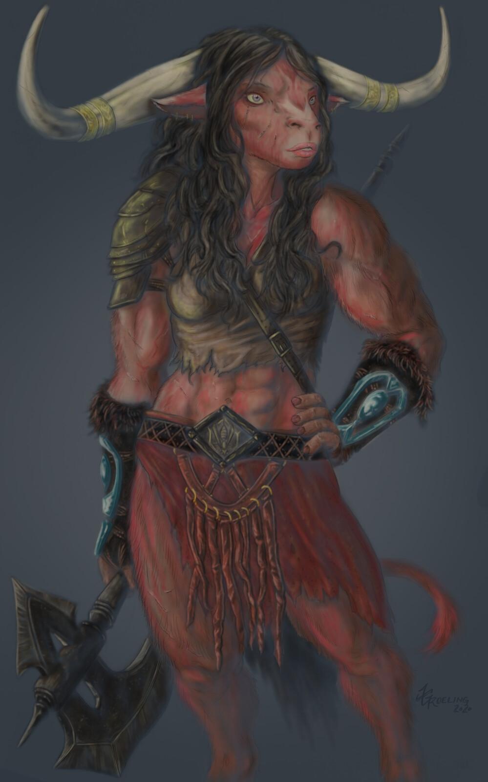 Io Bloodhoof, D&D Character Commission