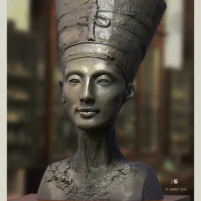 Surajit sen nefertiti digital sculpture surajitsen may2021al