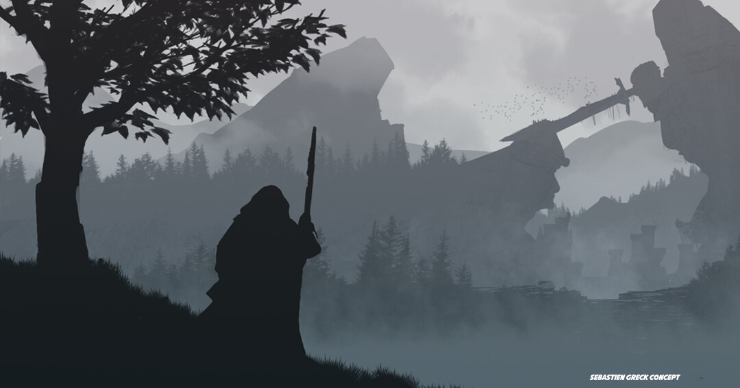 """If your adventure takes you to the Vihreä region, know that at the exit of the deer wood, you will see in the distance a fortress, surmounted by the statue of """"Sùilean air tuiteam"""", an elf hero."""
