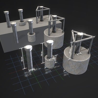 Dennis haupt 3dhaupt groundwater monitoring wells modelled and textured by 3dhaupt in blender 2 92 5