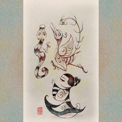 龍鳳仕女圖 Lady with Dragon and Phoenix (SD)