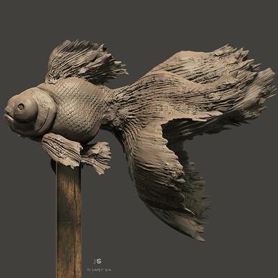 Surajit sen goldfish digital sculpture surajitsen may2021a ll