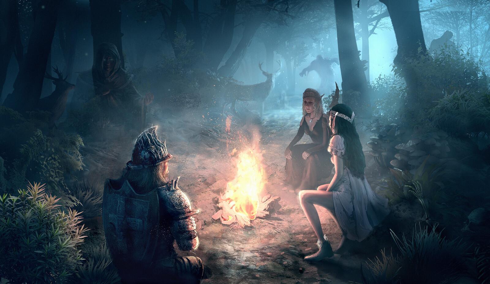 Old work- Fantasy woods