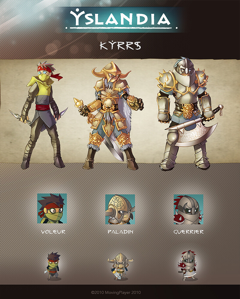 YSLANDIA - KYRRS- character design + icon + in game (size x3)