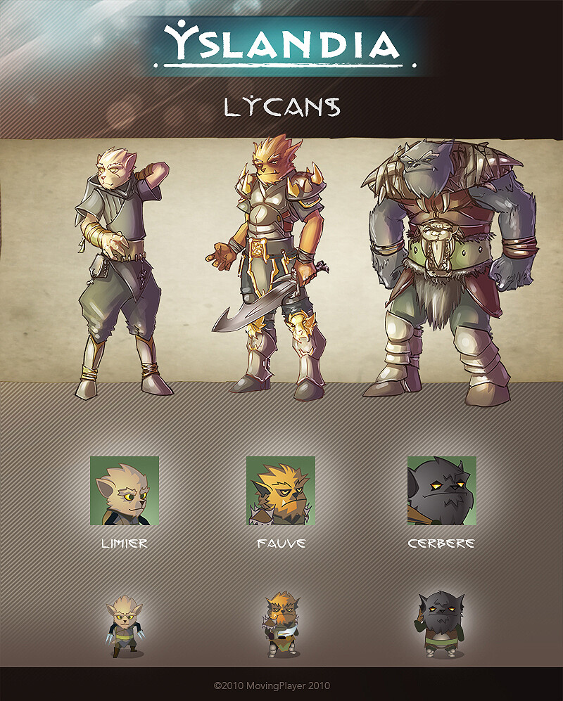 YSLANDIA - LYCANS - character design + icon + in game (size x3)