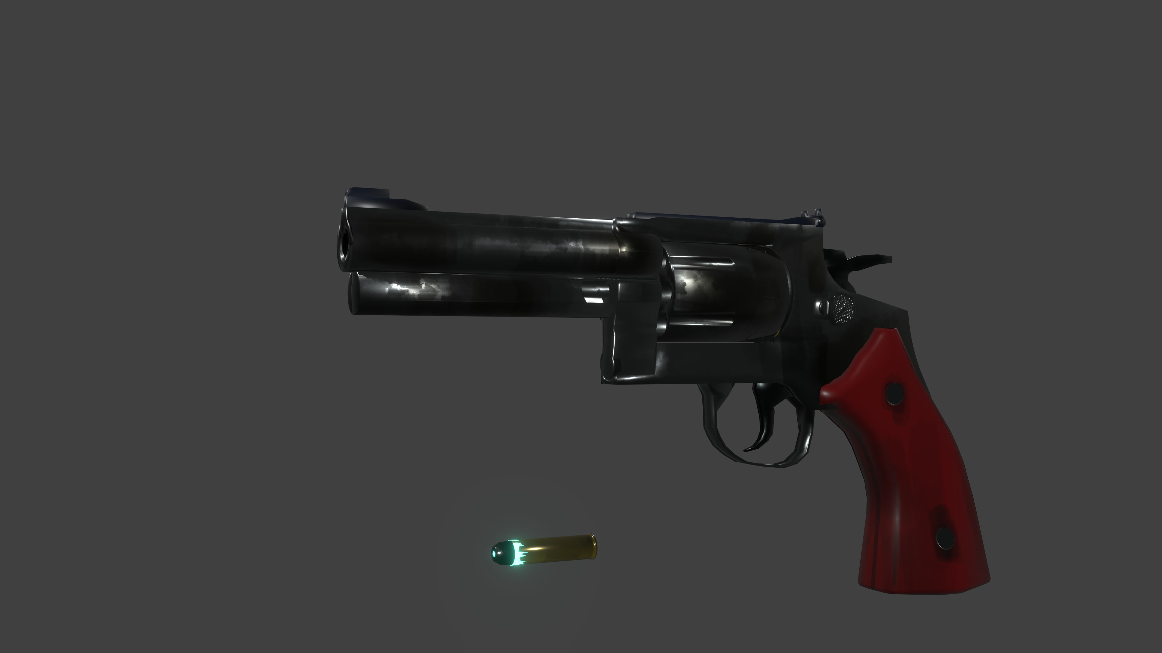 Smith and Wesson Model 686, with a glowy plutonium round