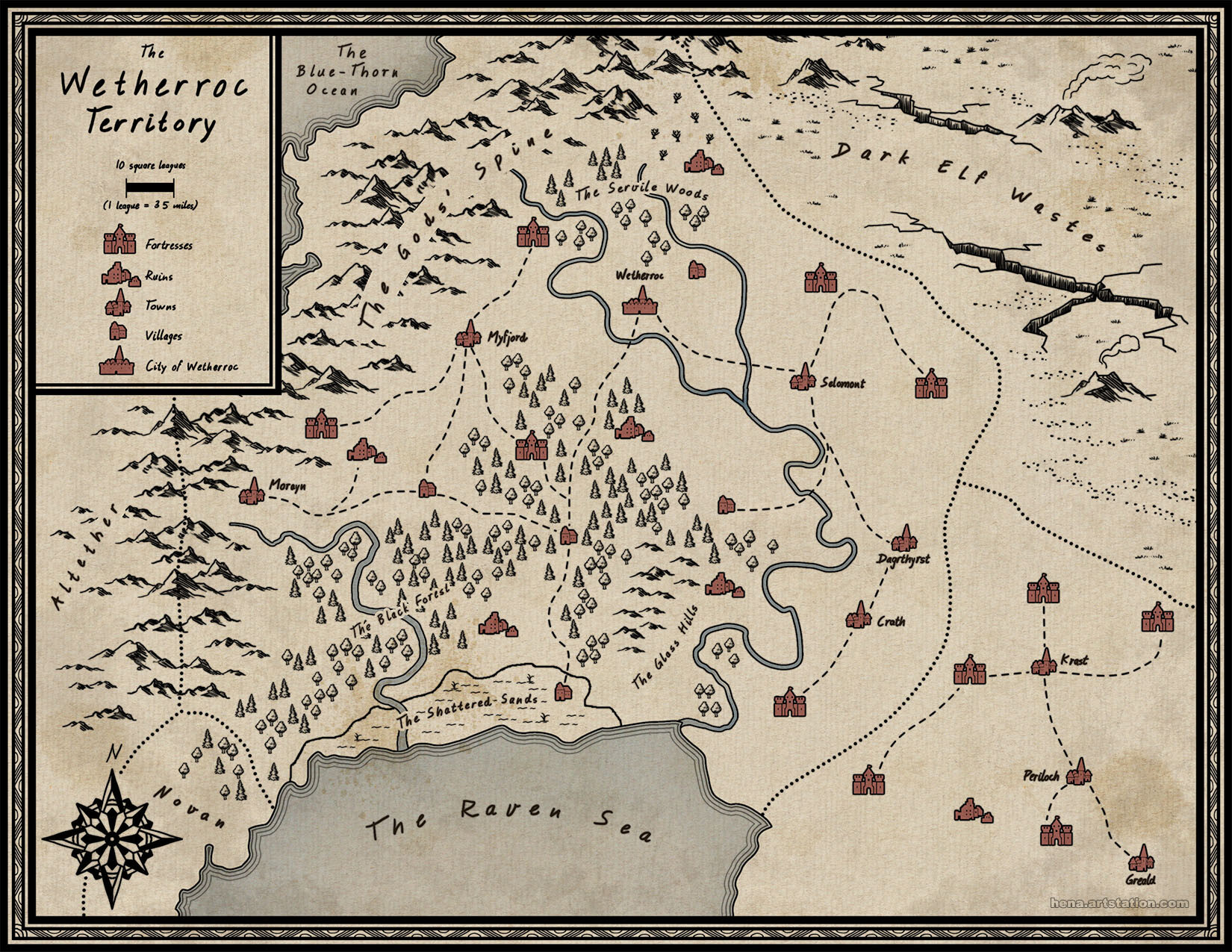 Map Art: Roodeht and Wetherroc