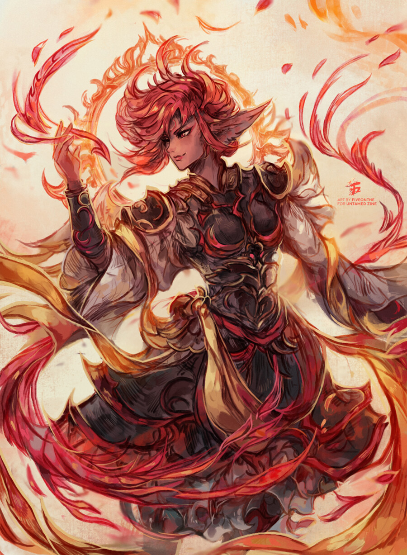 Vermillion Phoenix.  🔥✨