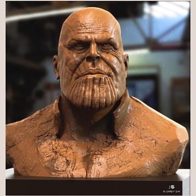 Surajit sen thanos digital sculpture surajitsen may2021aal