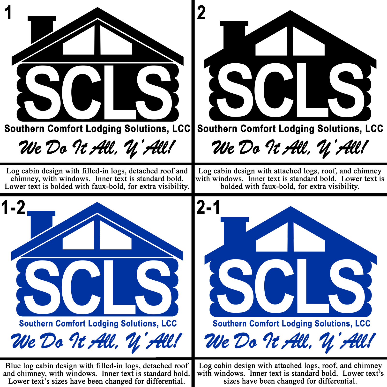The second 4 concept designs for the SCLS logo