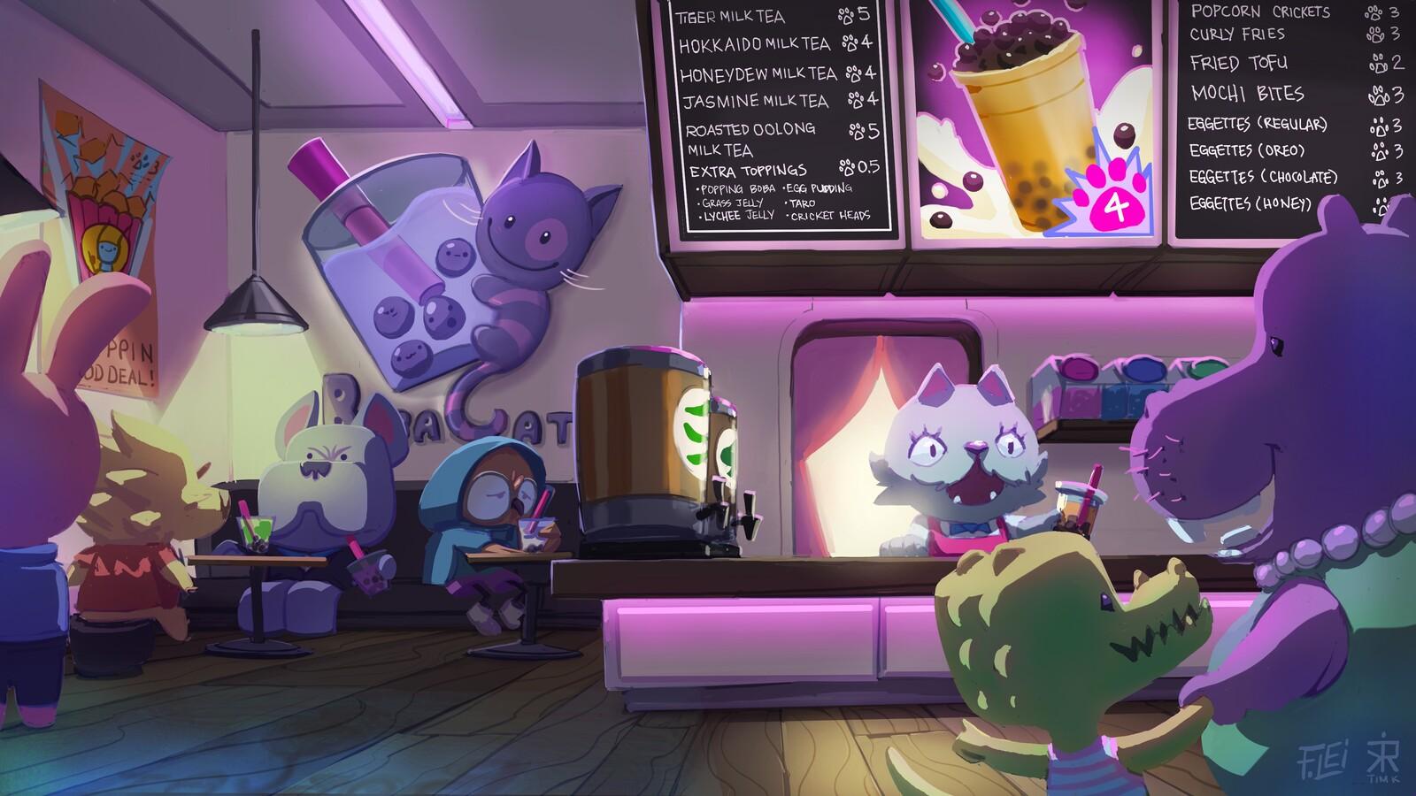 Boba Cat Café