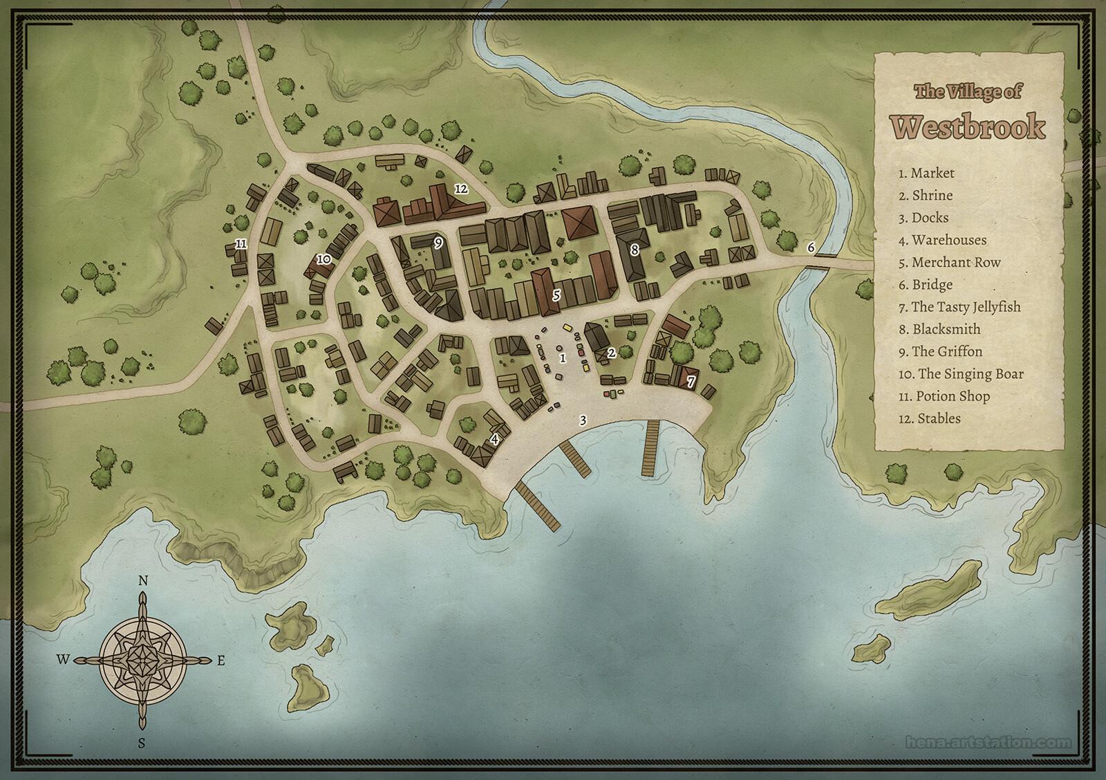 Map Art: Westbrook Village