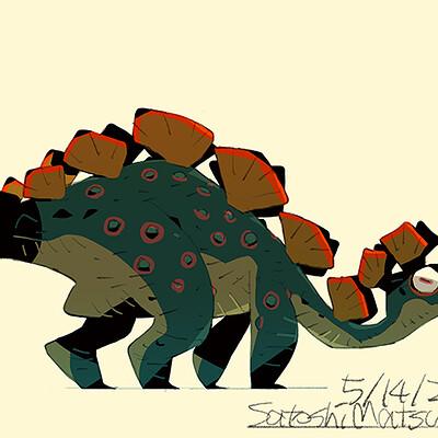 Satoshi matsuura 2021 04 14 stegosaurus s