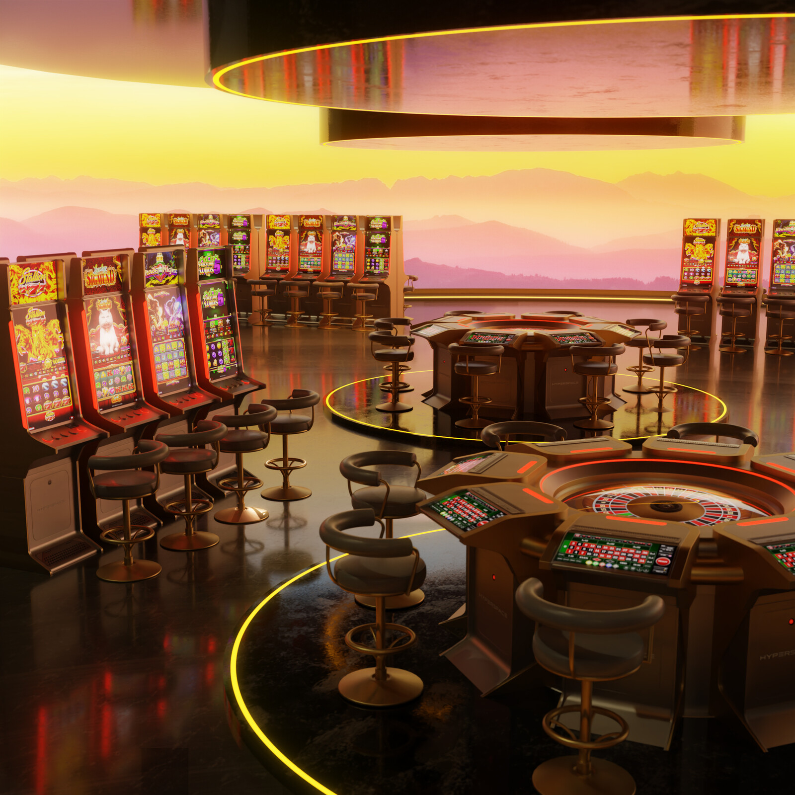 Hyperspace VR Casino Concept