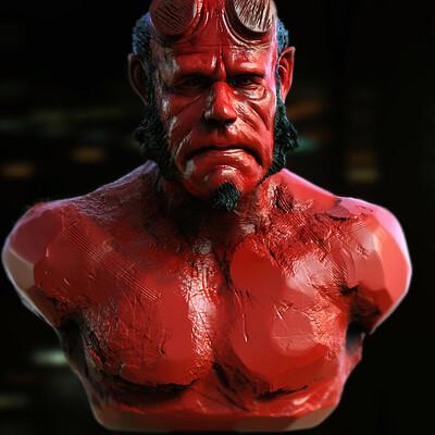 Surajit sen hellboy digital sculpture surajitsen may2021a l