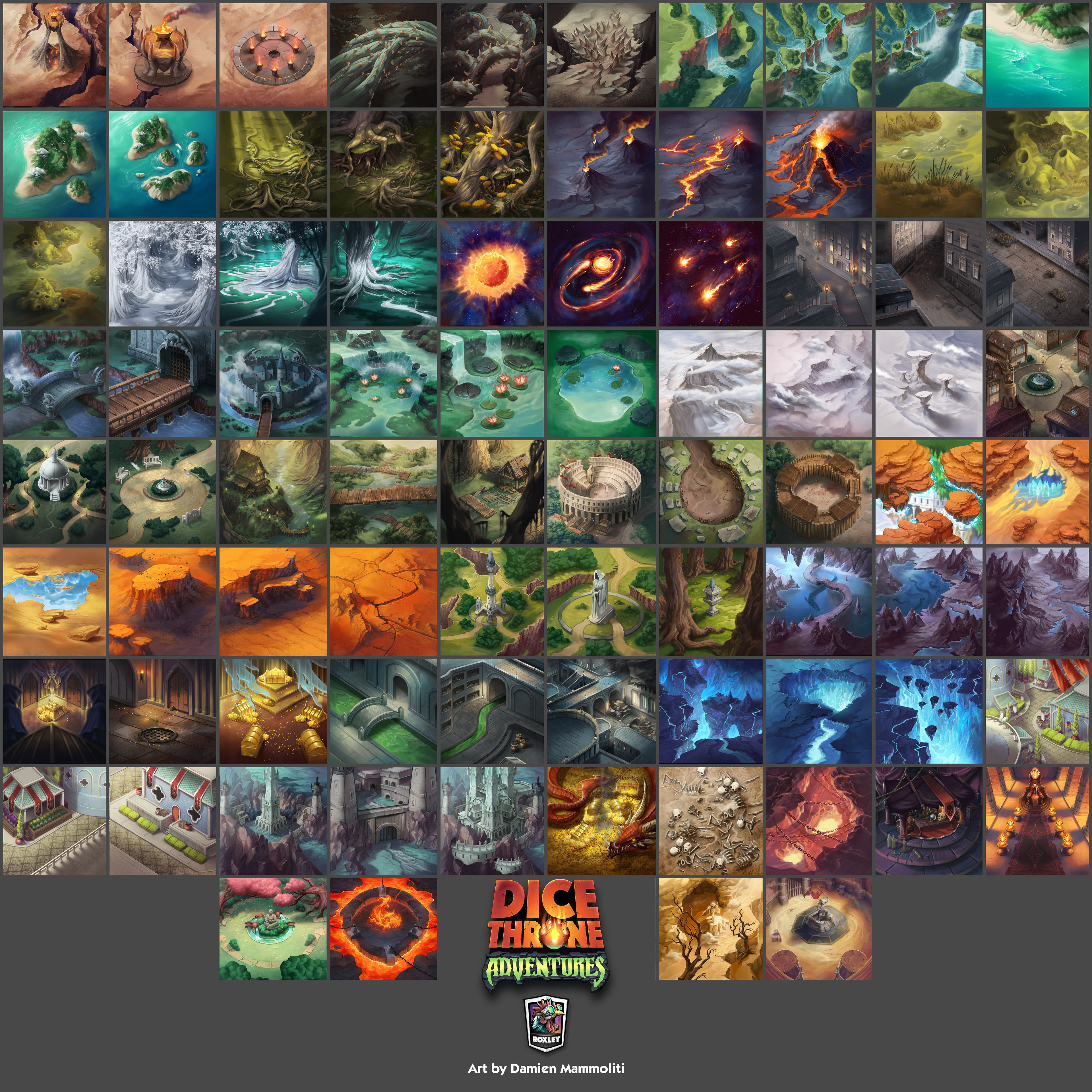 The complete set of map tiles