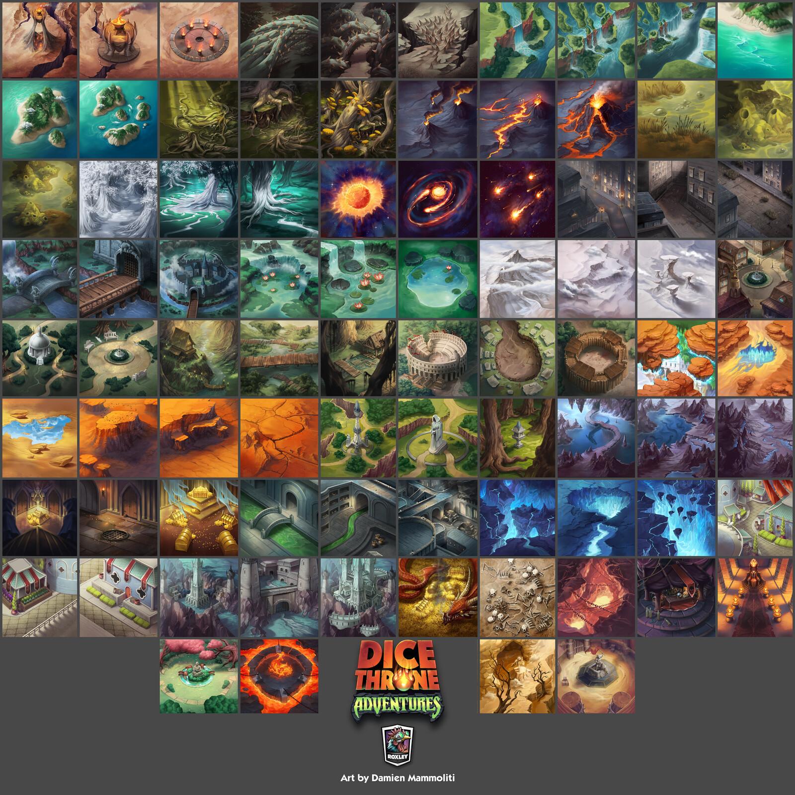 Dice Throne Adventures - Map Tiles