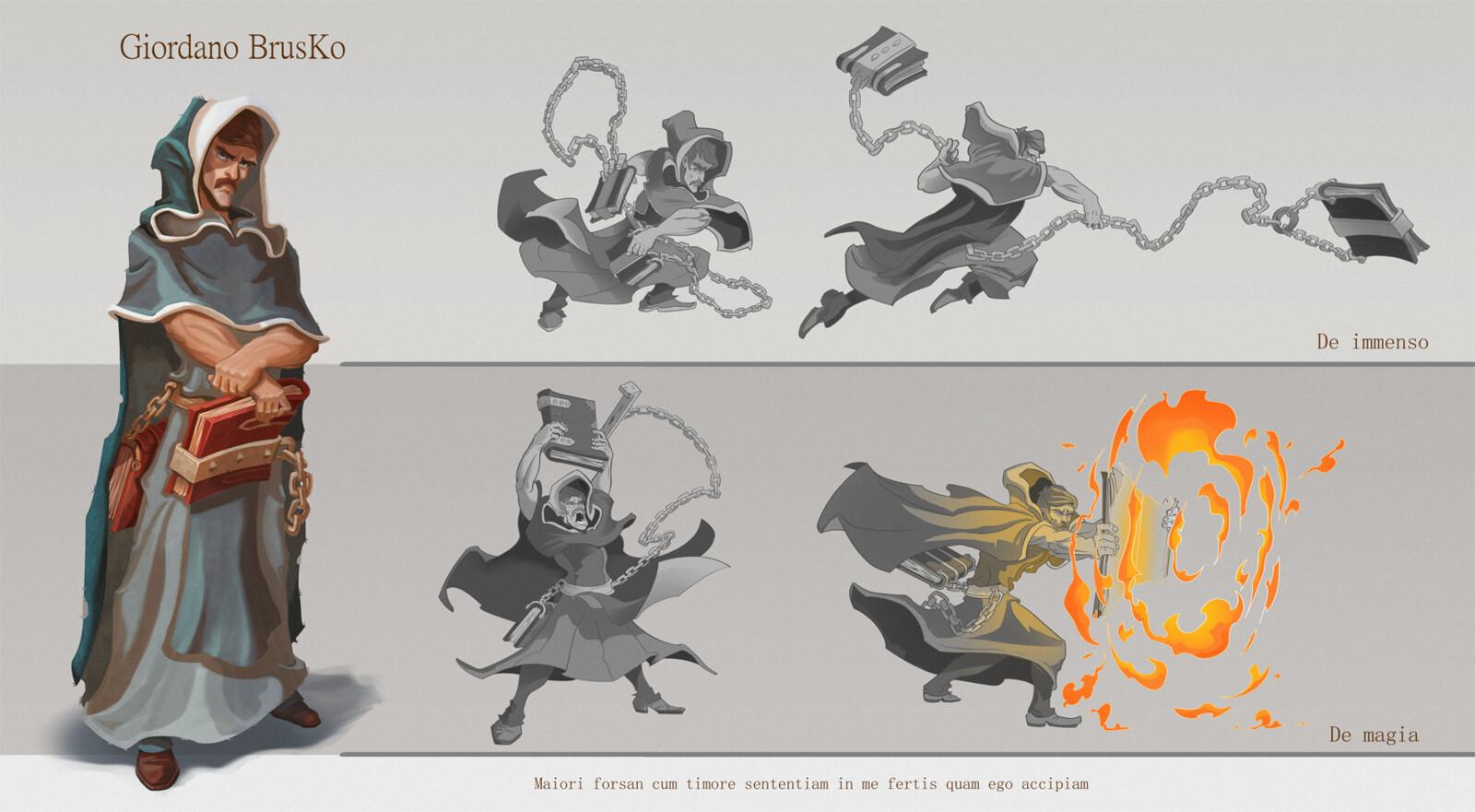 De immenso: strenght attack De magia: magic fire attack