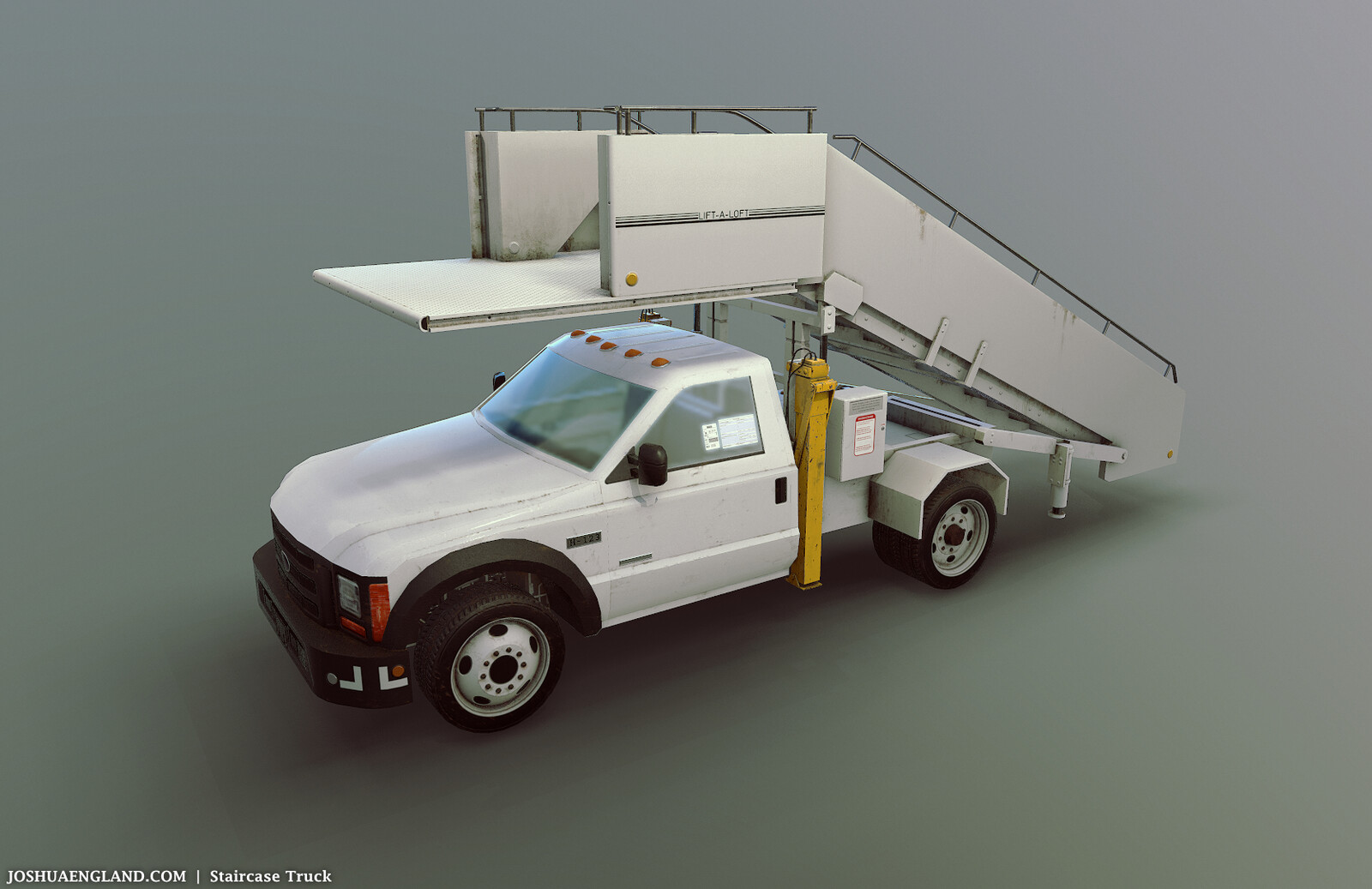 Staircase Truck   /   15,939 Triangles   /   6 Materials