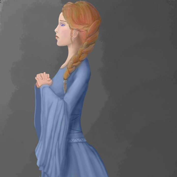Original concept for the princess, painted in PS