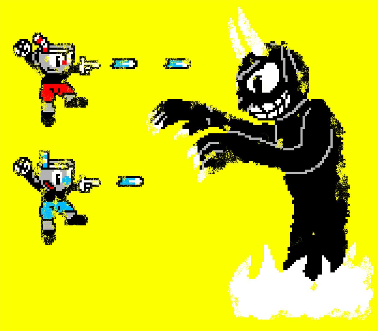 Cuphead x Megaman Fan Art