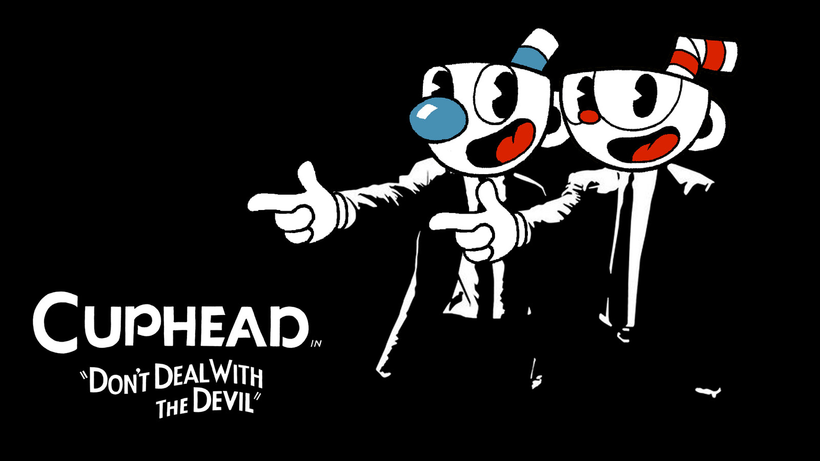 Cuphead x Pulp Fiction Fan Art