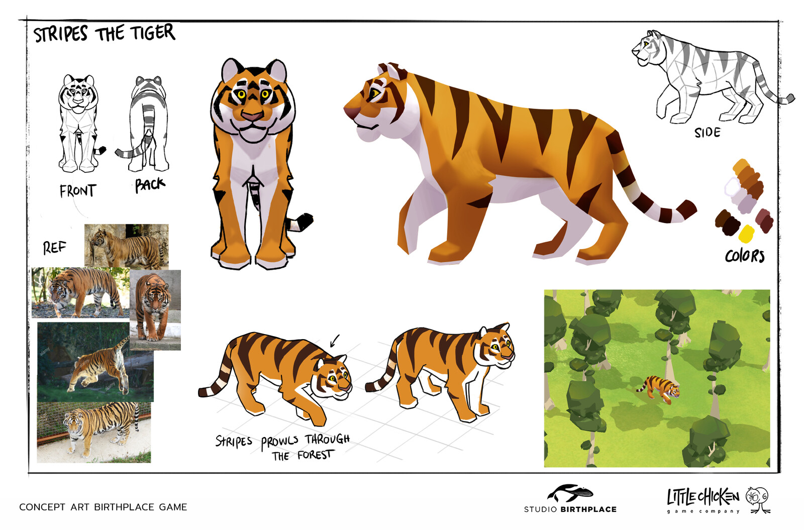 'Stripes' Character concept sheet