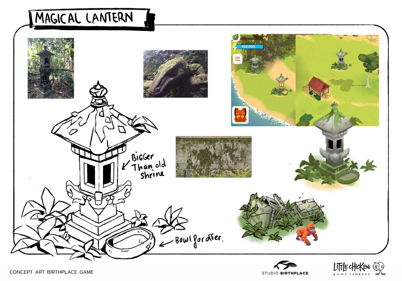 Magical Lantern concept sheet