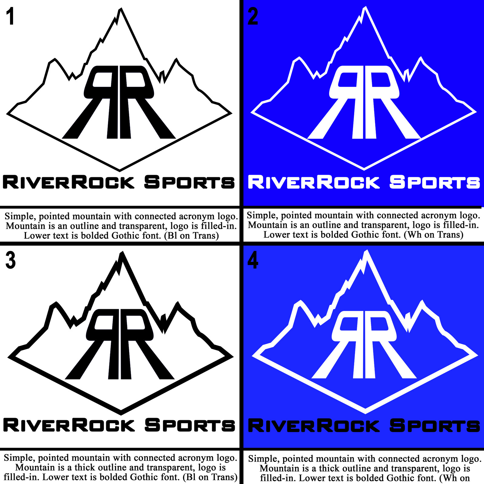 The second batch of concept iterations for the RRSM logo