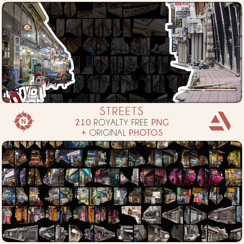 PNG Photo Pack: Streets    https://www.artstation.com/a/6070081