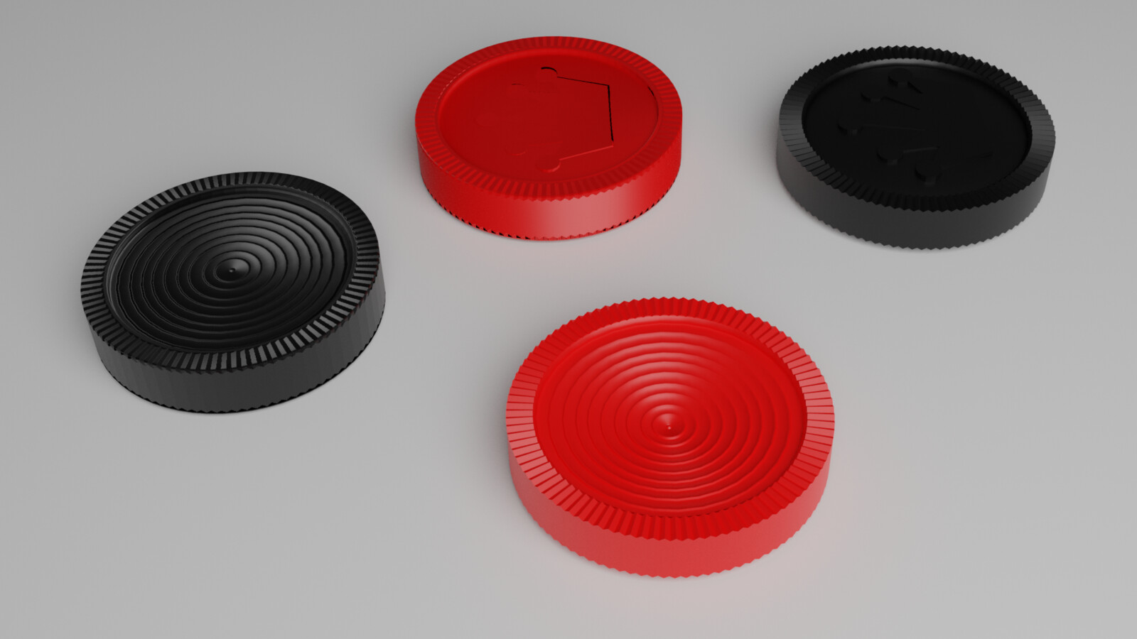 Checkers - High and Low Poly