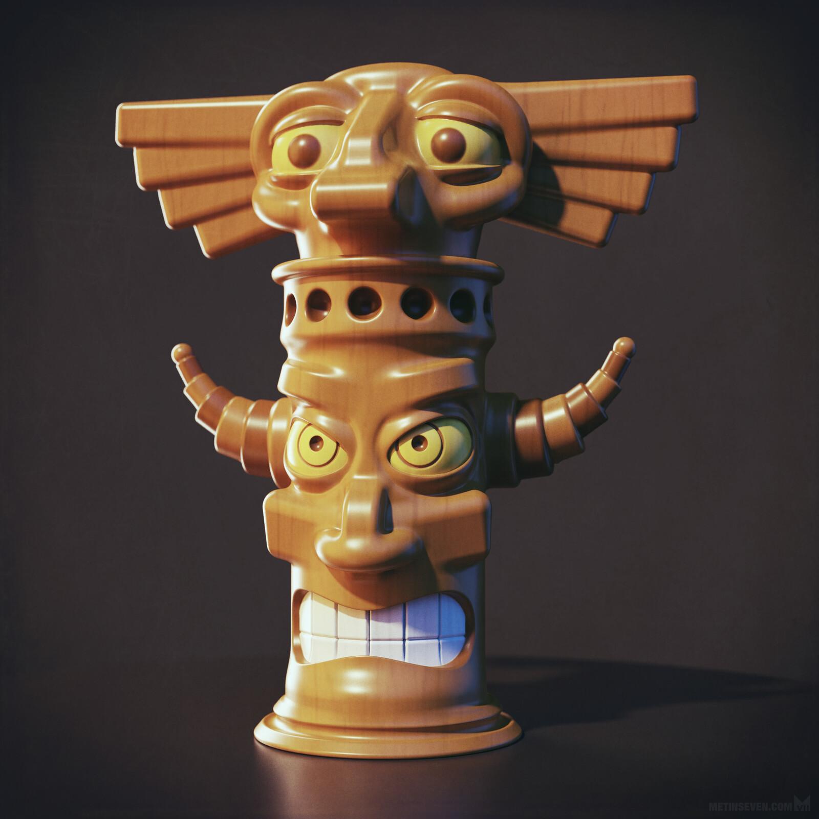 3D tiki totem character design 🗿