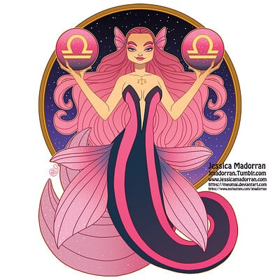 Jessica madorran patreon may 2021 zodiac mermaid libra artstation