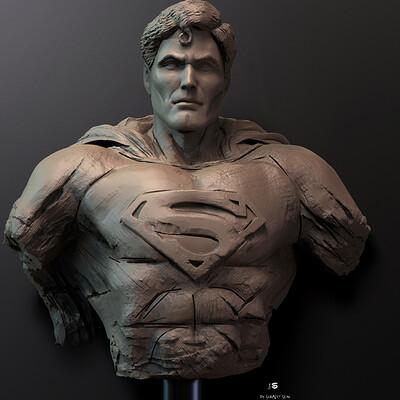 Surajit sen superman digital sculpture surajitsen may2021a l