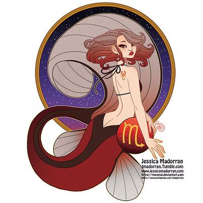 Jessica madorran patreon may 2021 zodiac mermaid scorpio artstation02