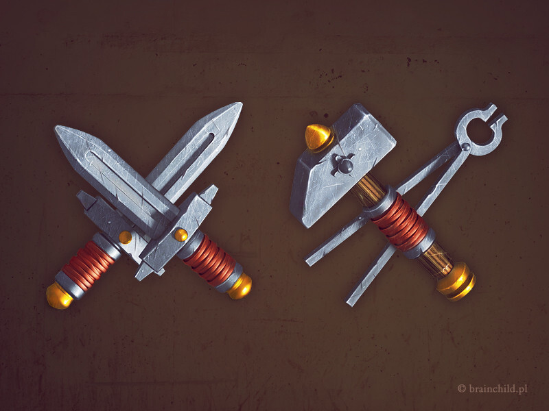 medieval fantasy game icon design - game icon  created in Photoshop