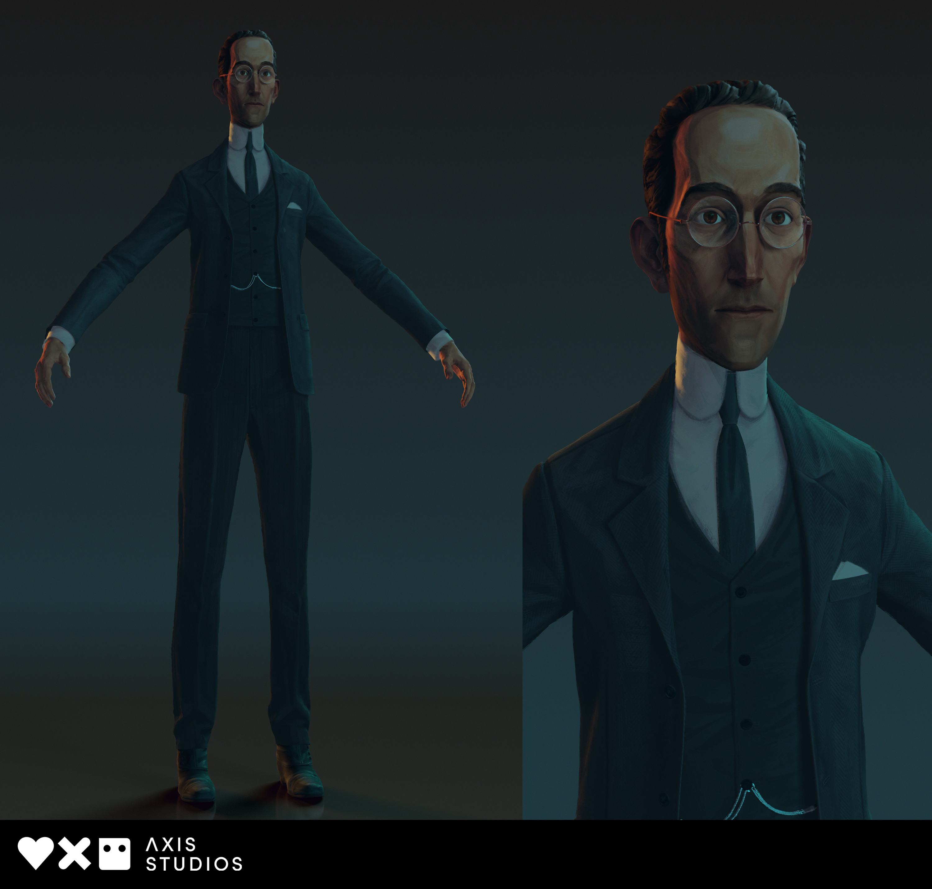 Final asset preview of Laird, lit/rendered by Lead LRC Scott Yorke
