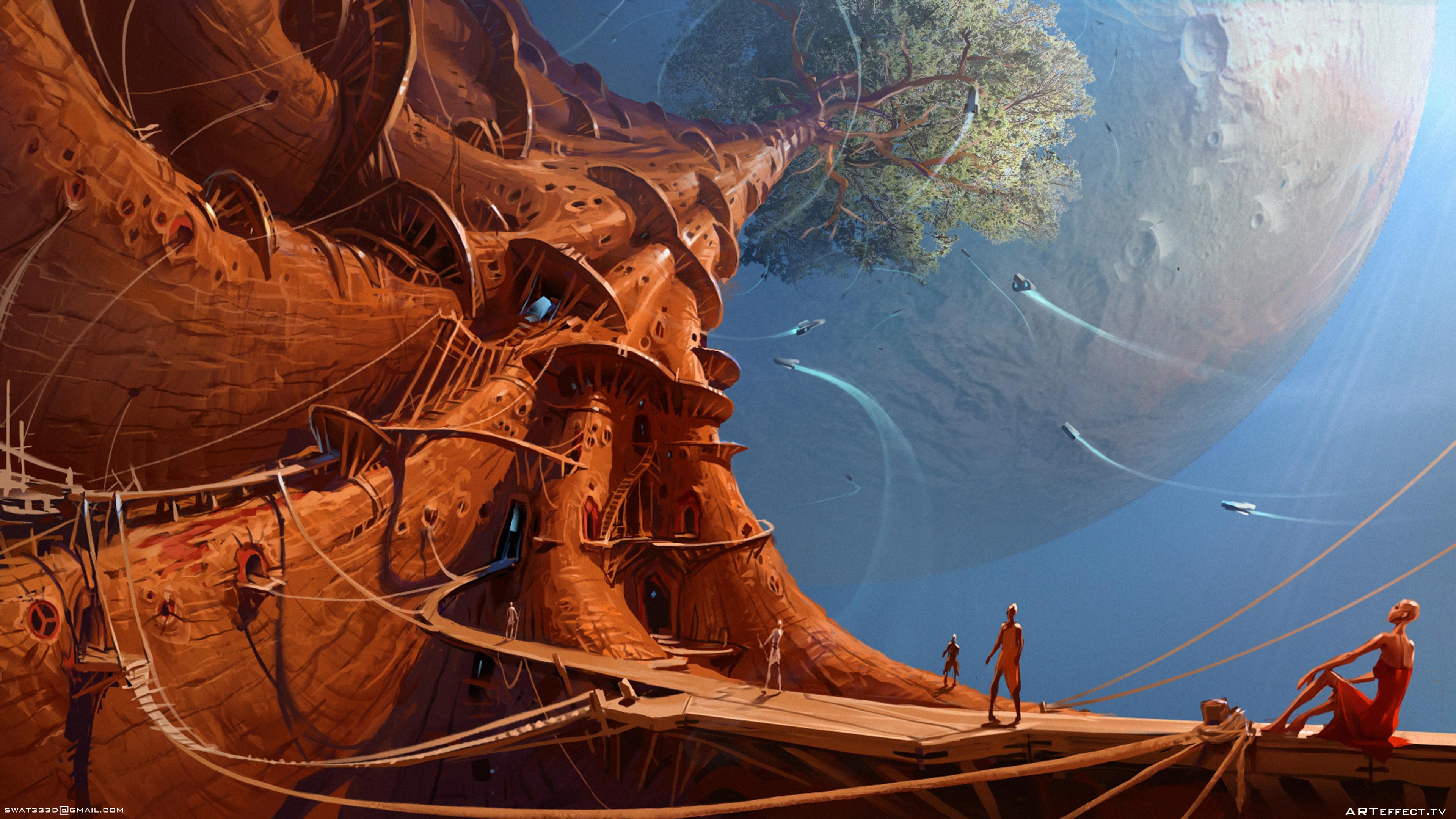 Supertree  Sci-Fi - village