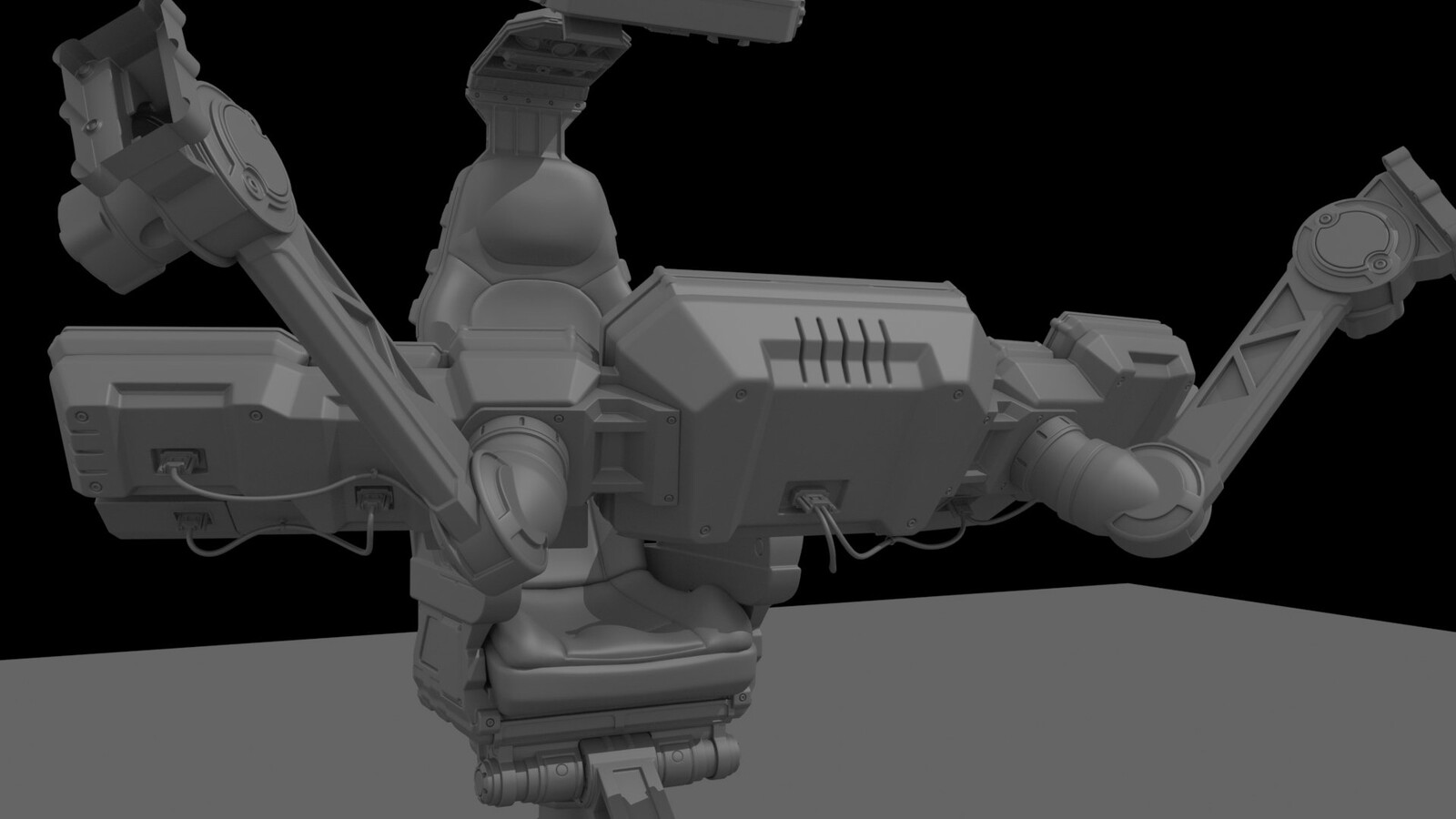 Quite happy with the back cover of the screens and the arms system to be able to move them.