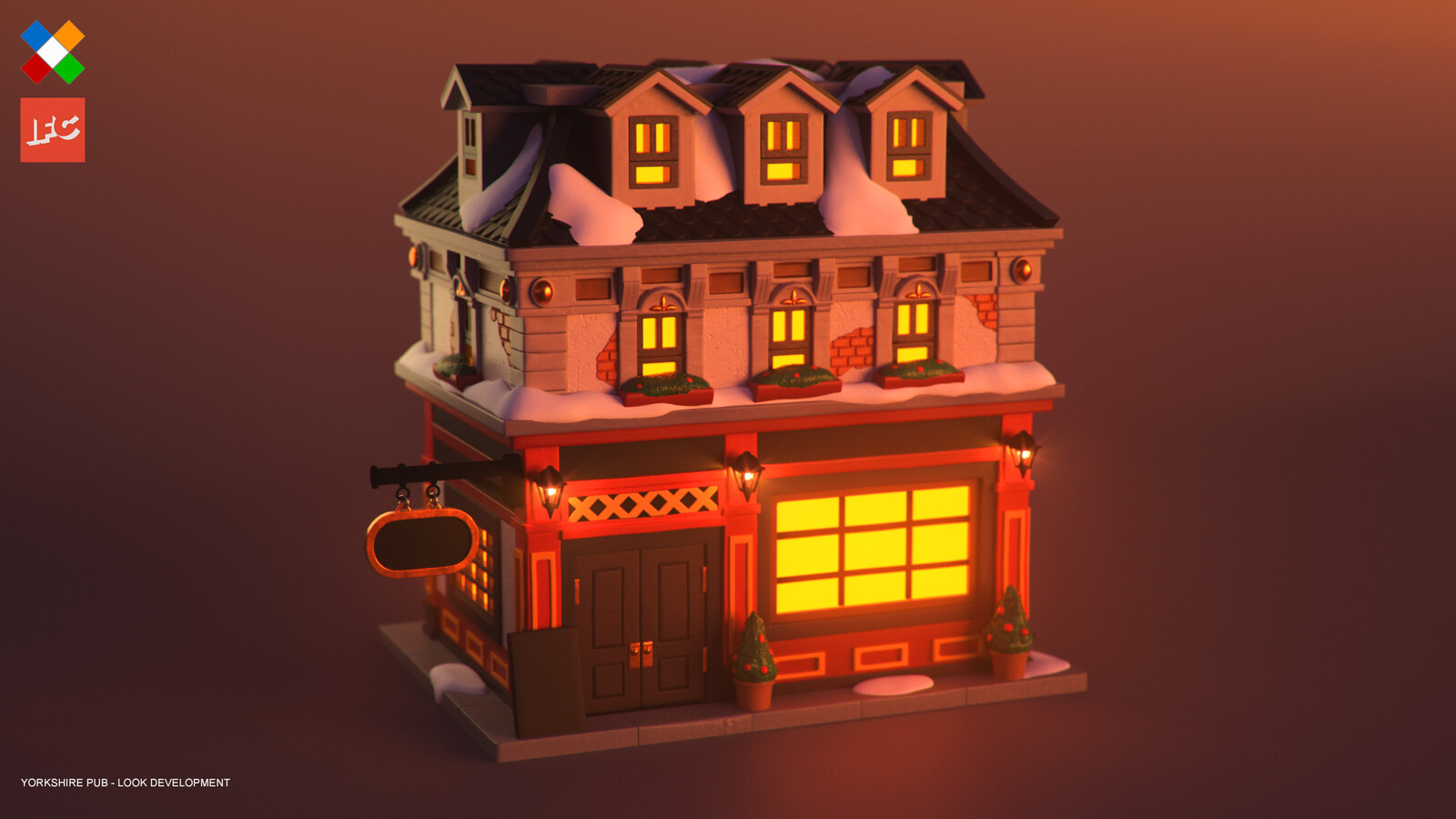 Look Development done for the Yorkshire Pub model