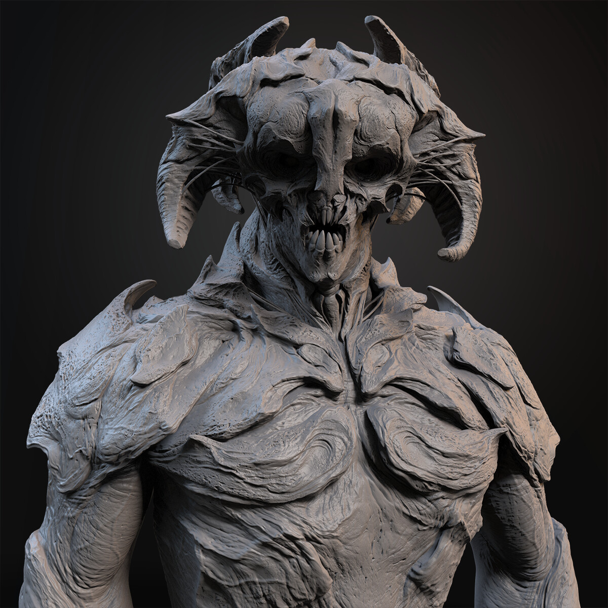 High-res sculpt in ZBrush